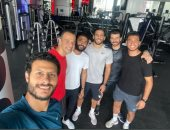 مروان محسن يتدرب مع ثلاثى الأهلى فى الجيم بعد تجديد تعاقده