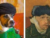 كلب يعيد تمثيل اللوحات الكلاسيكية الأشهر فى التاريخ.. اعرف الحكاية