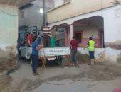 تطهير شوارع عزبة حمد بمحافظة كفرالشيخ ضد فيروس كورونا