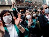 الشرطة التركية تقمع مظاهرة لمحامين رفضوا تدخل العدالة والتنمية بانتخابات النقابة