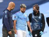 جوارديولا عن إصابة أجويرو: لا تبدو جيدة شعر بشيء ما فى ركبته