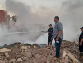 السيطرة على حريق بأرض الغنام في قليوب.. صور