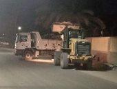 حملة نظافة ليلية لرفع تراكمات القمامة والأتربة بشوارع المحلة