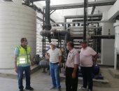 رئيس شركة مياه سيناء يتفقد محطة تحلية الريسة استعدادا لتشغيلها رسميا