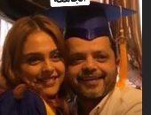هنيدى يحتفل بنجاح ابنته فريدة: عقبال ما احتفل بتخرجك من الجامعة