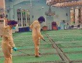 شباب شبرا مصر يستمرون فى تعقيم المساجد وفقا للاجراءات الاحترازية