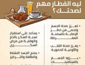 إنفوجراف.. ليه الفطار مهم لصحتك؟