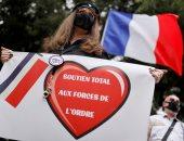 """تظاهرة لزوجات رجال الشرطة فى فرنسا لحث الحكومة على احترام """"المهنة"""".. صور"""