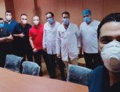 خروج 8 حالات تعاف من فيروس كورونا بمستشفى بنها للتأمين الصحى
