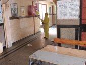 تعقيم مدارس الأقصر استعدادا لثالث أيام امتحانات الثانوية العامة.. صور