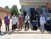 تعافى وخروج 22 مصابا بكورونا من مستشفى الواسطى ببنى سويف