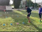 """تدريبات قوية تجمع الحضري وأحمد الشيخ.. والأخير: التدريب معاه ممتع """"فيديو وصور"""""""