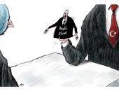كاريكاتير صحيفة سعودية.. فايز السراج لعبة فى يد أردوغان