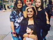 حلا شيحة تعيد نشر صورة أبنائها الأربعة هنا وخديجة وأحمد وعائشة