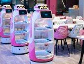 صور وفيديو.. افتتاح أكبر مطعم روبوتى شامل فى العالم بالصين