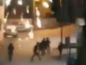 فيديو .. جنود إسرائيليون يهربون خوفا من ألعاب نارية أطلقها متظاهرون فى القدس