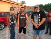 """صور.. بوسى شلبى تجرى لقاءات مع أبطال فيلم """"زنزانة 7"""""""