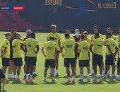 آرثر ميلو يعد زملاءه بالقتال للنهاية قبل قمة برشلونة ضد أتلتيكو مدريد