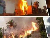 حريق كبير فى مدينة تركية يؤدى لاحتراق عشرات المنازل