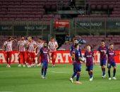 كوستا يسجل أول هدف عكسى بمسيرته فى قمة برشلونة ضد أتلتيكو مدريد.. فيديو