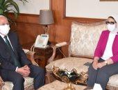 محافظ بورسعيد يستقبل وزيرة الصحة لمتابعة منظومة التأمين الصحى (صور)