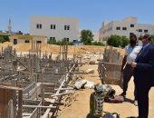 رئيس جامعة بنى سويف يتفقد التشطيبات النهائية لمبنى المدرجات والمطبعة الجديدة