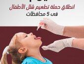 الصحة تعلن تطعيم 13 مليونا و871 ألف طفل ضد مرض شلل الأطفال