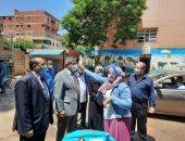 نائب رئيس جامعة بنها لشئون التعليم والطلاب يتفقد سير الإمتحانات بكلية الطب البيطرى