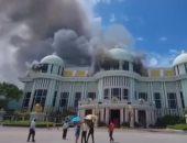 فيديو.. اندلاع حريق بأحد القصور فى تايلاند.. ومحاولات للسيطرة على النيران