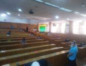 صور.. بدء امتحانات الفصل الدراسى الثانى للسنوات النهائية بجامعة الإسكندرية