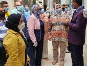 الكمامة وقياس الحرارة شرط دخول امتحان الفرقة الرابعة بجامعة الإسكندرية..صور