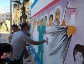 صور.. أهالى شمال سيناء يساندون أطقم الصحة بالفن فى مواجهة كورونا