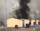 نشوب حريق هائل فى تشاناق قلعة بتركيا وتلف 300 هكتار من الأراضى
