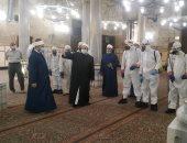 إعادة فتح مسجد الإمام الحسين جزئيا فجر اليوم بعد قرار وزير الأوقاف