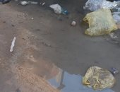 سكان منطقة مؤسسة الزكاة يشكون انتشار مياه الصرف الصحى بشارع عبد الوهاب