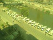 شكوى من نقل موقف السرفيس إلى شريط النيل فى المنصورة بالدقهلية