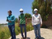 صور.. مسئولو هندسة حميات النيل بالأقصر يقودون جولة لمتابعة أعمال التكريك