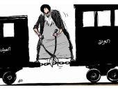 كاريكاتير صحيفة سعودية يسلط الضوء على تدخلات نظام الملالى في العراق