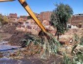 صور.. تنفيذ 5 قرارات إزالة بإجمالى 7 آلاف متر فى حملات لحماية النيل بالأقصر