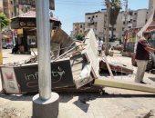 فيديو وصور.. إزالة الأكشاك والتعديات ب 3 شوارع بكفر الشيخ