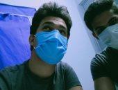 """""""محمد و على"""" يشاركان صحافة المواطن بصورتهما بالكمامة من محافظة المنيا"""