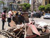 صور..إزالة إشغالات ومخالفات الأسواق العشوائية غرب الإسكندرية