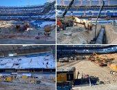 """شاهد.. أعمال تجديد ملعب """"سانتياجو برنابيو"""" معقل ريال مدريد"""