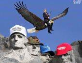 """ترامب الابن ينشر صورة لوالده وهو يحلق بـ""""نسر"""" فى احتفالات عيد الاستقلال الأمريكى"""
