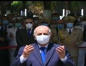 فيديو .. رئيس الجزائر يشهد مراسم دفن رفات قادة المقاومة الشعبية
