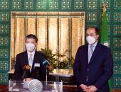 سفير الصين بالقاهرة يسلم أمانة الجامعة العربية مستلزمات وقائية لمواجهة كورونا