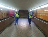 صور.. السكة الحديد تواصل تعقيم المحطات والقطارات للوقاية ضد كورونا
