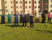 تعافى 18 مصابا بكورونا وخروجهم من عزل المدينة الجامعية ببنى سويف