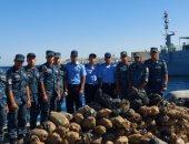 القوات البحرية تضبط كمية كبيرة من المواد المخدرة بنطاق الأسطول الجنوبى