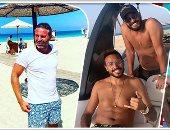"""صور.. مشاهير الكرة يهربون من حرارة الجو للشواطىء تحت شعار """"أمير البحار"""""""